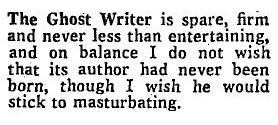 Bernard Levin on The Ghost Writer