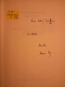 Signed copy, Darieussecq